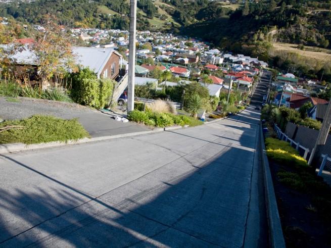 Най-стръмната улица в света  ул. Болдуин, Нова Зеландия