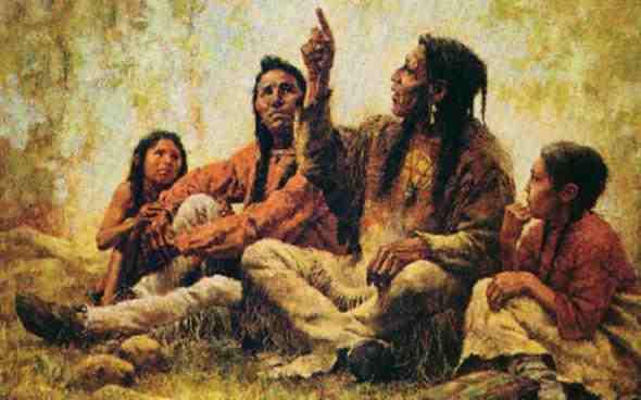 индианско семейство
