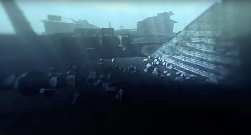 пирамида под вода