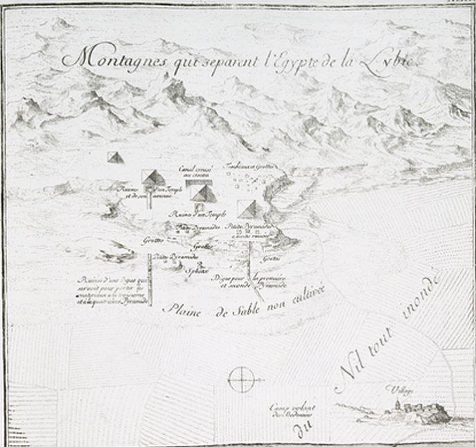 карта с неизвестни пирамиди